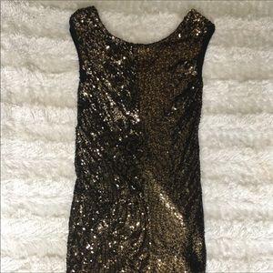 Armani exchange Gorgeous gold sequined dress sz 6
